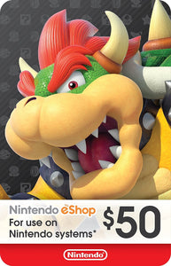 eCash - Nintendo eShop Gift Card USD$50 - Switch / Wii U / 3DS [Digital Code]