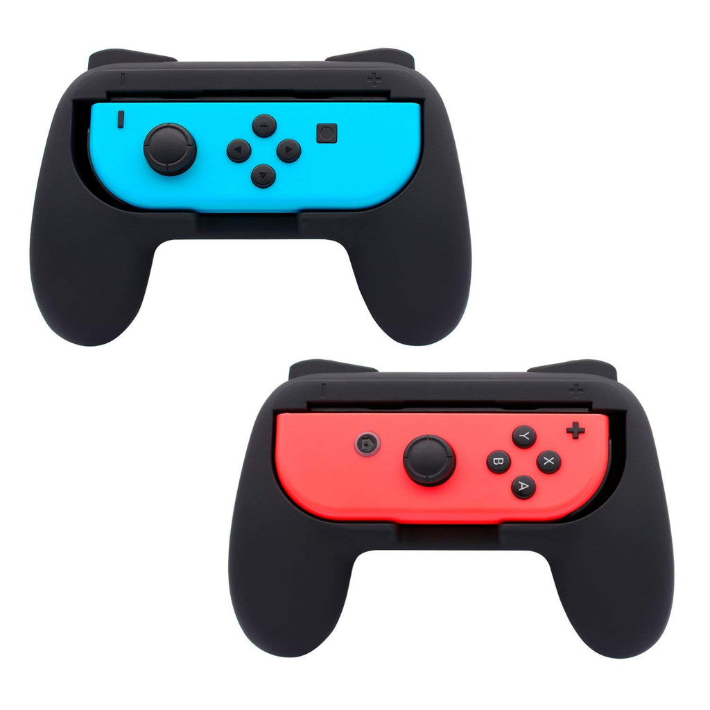 FASTSNAIL Grips for Nintendo Switch Joy-Con, 2 Pack (Black)