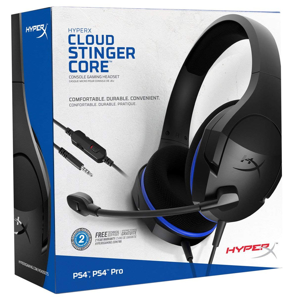 HyperX Blue - Cloud Stinger Core - Gaming Headset for PS4, Nintendo Switch, Xbox One with Mic, passive noise cancelling, VR (HX-HSCSC-BK)