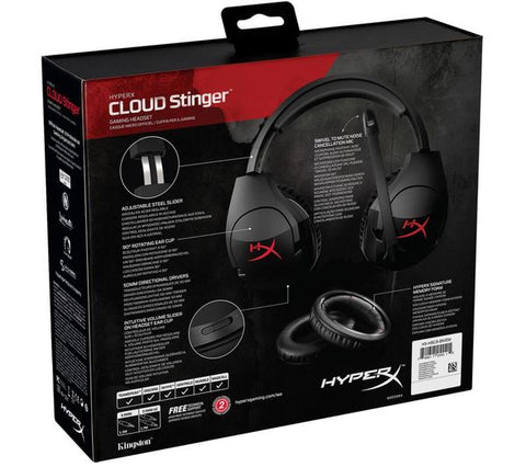 HyperX RED - Cloud Stinger Gaming Headset for PC, Xbox One¹, PS4, Wii U (HX-HSCS-BK/NA) - BLACK FRIDAY 2019