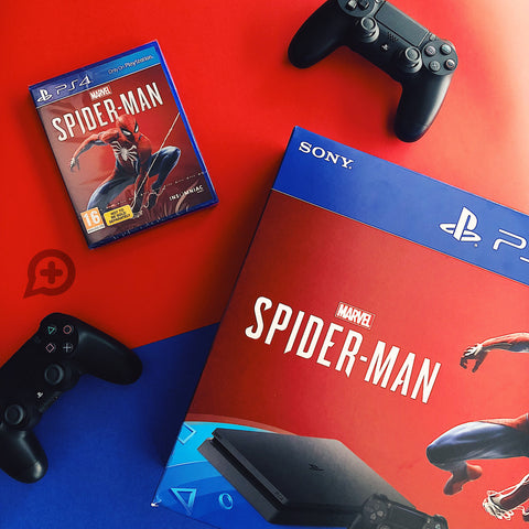 PlayStation 4 Slim 1TB Console - Spiderman bundle + TSHIRT BY @ALEXTILOLIBRE + LLAVERO DE ELECCIÓN