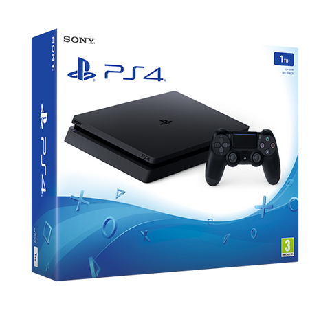 PlayStation 4 Slim 1TB BLACK Console - Como Nuevo