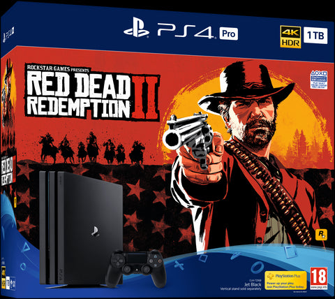 PlayStation 4 Pro 1TB Console - Red Dead Redemption 2 Bundle + TSHIRT BY @ALEXTILOLIBRE + LLAVERO DE ELECCIÓN