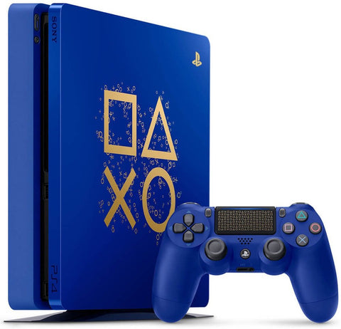 PlayStation 4 Slim 1TB Limited Edition Console - Days of Play 2019 Blue + Tshirt + Llavero