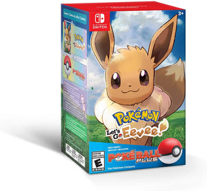 Pokemon Lets Go Eevee + Poke Ball Plus Pack - Nintendo Switch