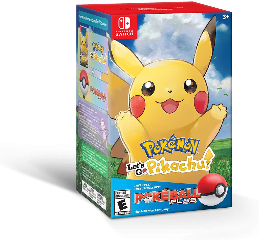 Pokemon Lets Go Pikachu + Poke Ball Plus Pack - Nintendo Switch