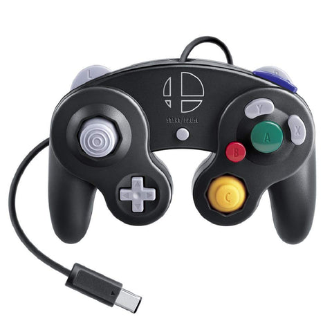 SUPER SMASH BROS. EDITION GAMECUBE CONTROLLER Black
