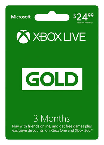 Xbox Live 3 Month Gold Membership - Digital Code