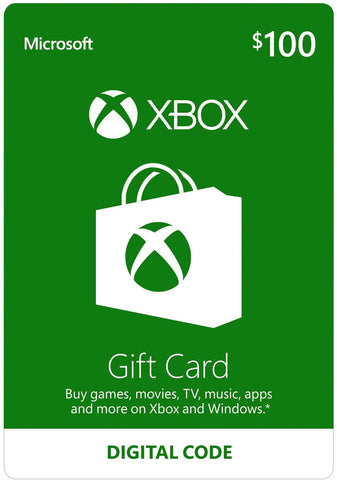 Xbox Live Gift Cards US$100 [Digital Code]