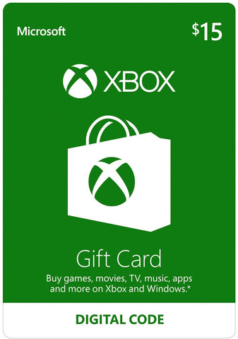 Xbox Live Gift Card US$15 [Digital Code]
