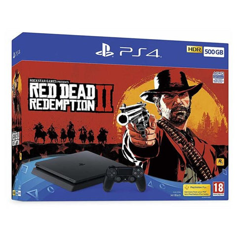 PlayStation 4 Slim 500GB Console - Red Dead Redemption 2 + TSHIRT BY @ALEXTILOLIBRE + LLAVERO DE ELECCIÓN