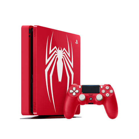PlayStation 4 Slim 1TB Console - Spiderman Bundle - Red + TSHIRT BY @ALEXTILOLIBRE + LLAVERO DE ELECCIÓN