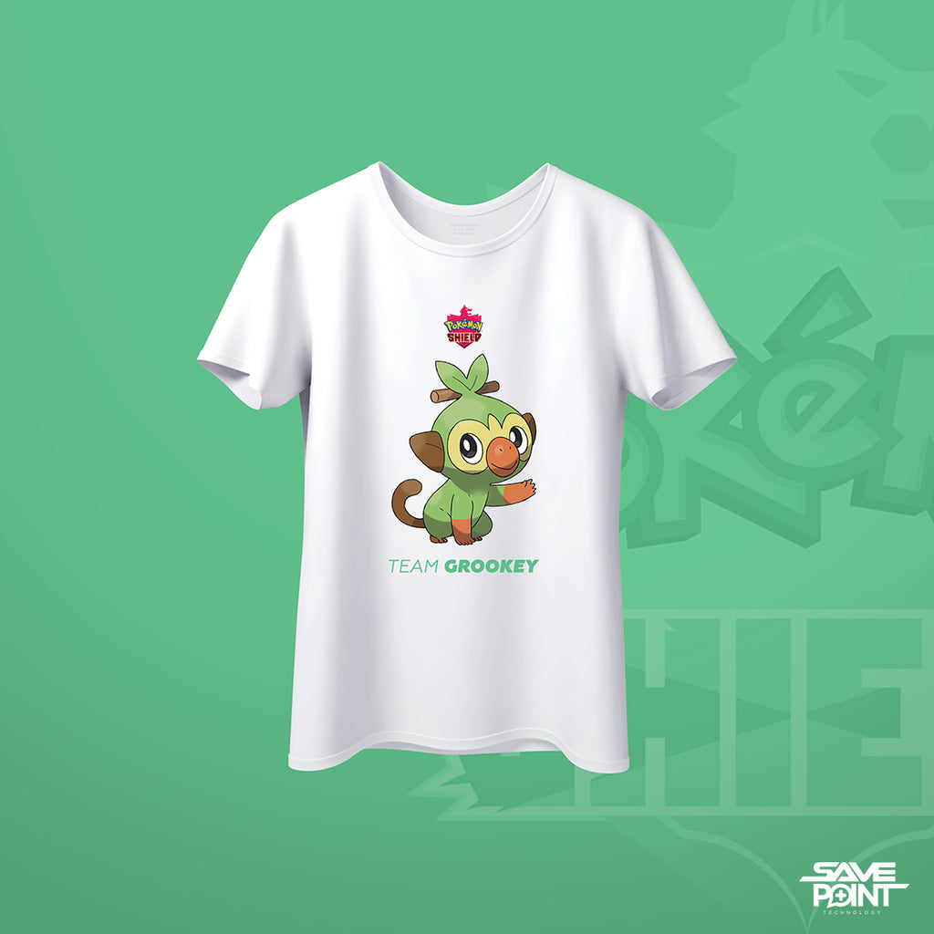 T Shirt - Pokemon Shield Grookey Concept - by @Blvckwxlf.co