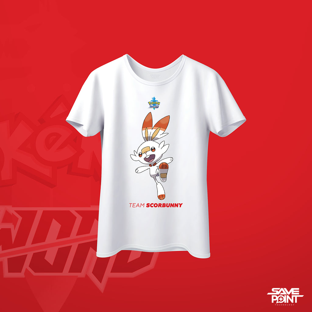 T Shirt - Pokemon Sword Scorbunny Concept - by @Blvckwxlf.co