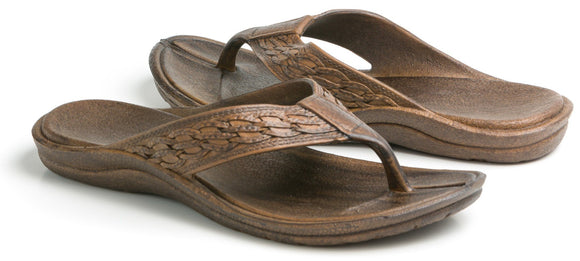 Pali Hawaii Shaka Thong - Dark Brown - Captain Woody's Locker