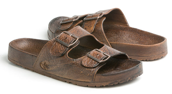 Pali Hawaii Unisex Buckle Jandal in Dark Brown - Captain Woody's Locker