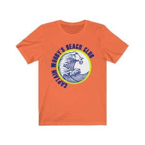 Captain Woody's Beach Club Big Wave Unisex Short Sleeve T-Shirt - Captain Woody's Beach Club