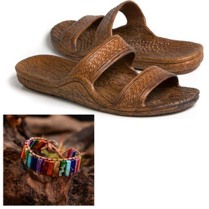 Jandal and Stone Bracelet Special - Captain Woody's Locker