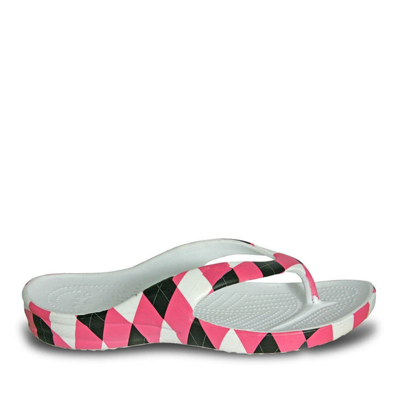 Women's Loudmouth Flip Flops - Pink and Black - Captain Woody's Locker