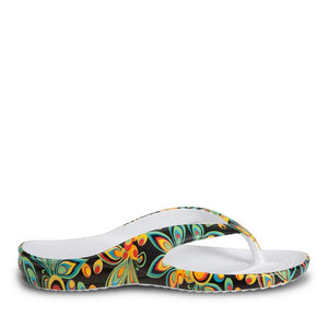 Women's Loudmouth Flip Flops - Shagadelic Black - Captain Woody's Locker