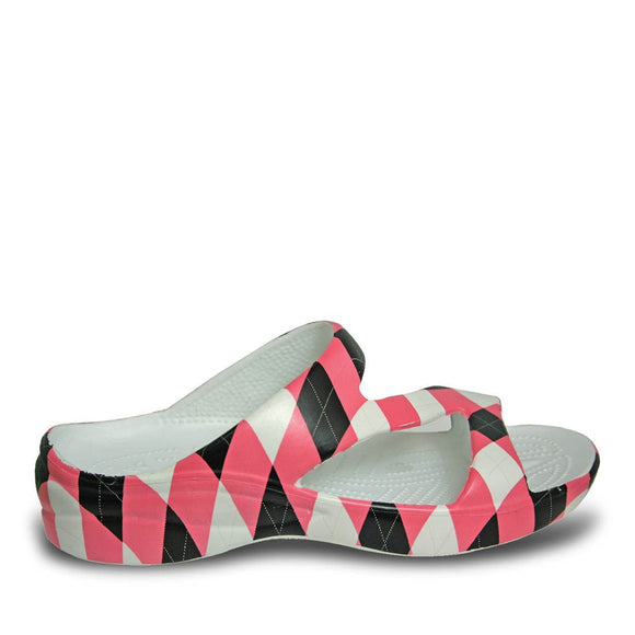 Women's Loudmouth Z Sandals - Pink and Black - Captain Woody's Locker