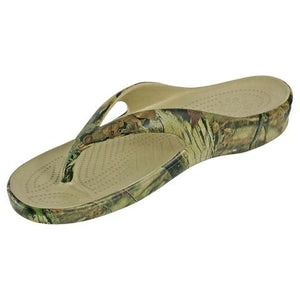 DAWGS Women's Flip Flop Sandal - Mossy Oak - Captain Woody's Beach Club