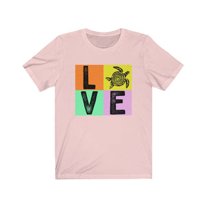 Turtle Love Unisex Short Sleeve Beach Turtle T-Shirt - Captain Woody's Beach Club