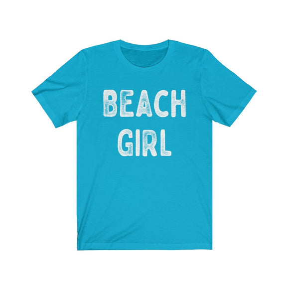 Beach Girl White Text Unisex Short Sleeve T-Shirt - Captain Woody's Beach Club