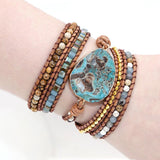 Mixed Natural Stones 5 Strands Wrap Bracelets - Captain Woody's Locker