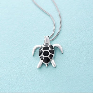 925 Sterling Silver Lovely Turtle Pendant Necklaces - Captain Woody's Locker