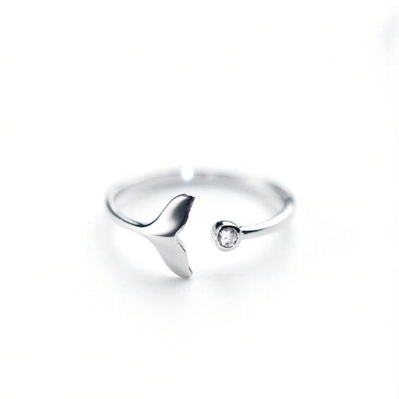 925 Sterling Silver Jewelry Whale tail Ring - Captain Woody's Locker
