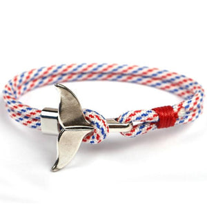 Whale Tail Anchor Paracord Bracelet - Captain Woody's Locker
