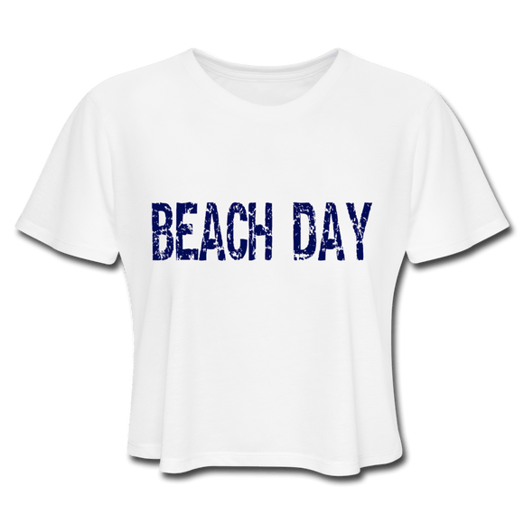 Beach Day Women's Cropped T-Shirt - Captain Woody's Locker