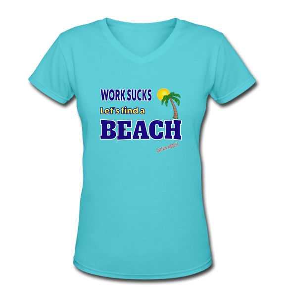 Women's V-Neck T-Shirt - Captain Woody's Locker