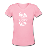 Girls Just Wanna Have Sun Women's V-Neck T-Shirt - 6 colors available - Captain Woody's Locker