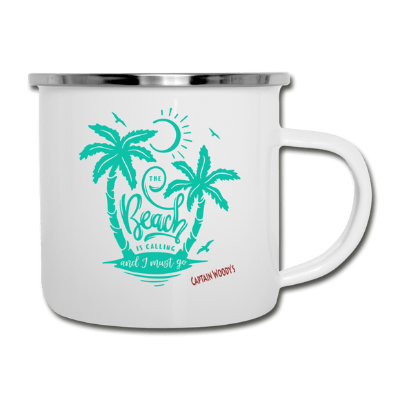 The Beach is Calling and I must Go Camper Mug - Captain Woody's Locker