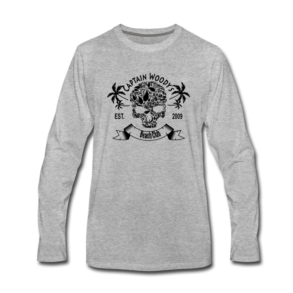 Captain Woody's  Skull  Men's Premium Long Sleeve T-Shirt - 5 color options - Captain Woody's Locker