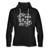 Life is Better in Flip Flops Unisex Lightweight Terry Hoodie - Captain Woody's Locker