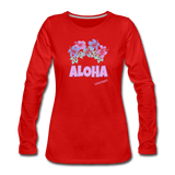 Women's Premium Long Sleeve Aloha T-Shirt - 9 color options - Captain Woody's Locker
