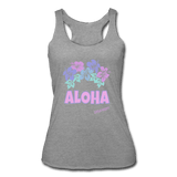 Women's Aloha Hawaiian tank, Tri-Blend Racerback, 6 color options - Captain Woody's Locker