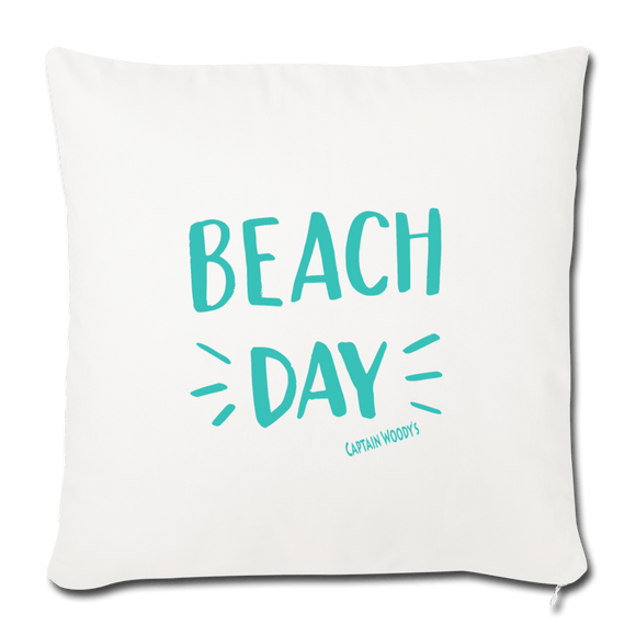 "Beach Day Throw Pillow Cover 18"" x 18"" - Captain Woody's Locker"