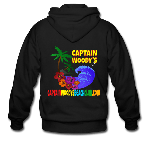 Captain Woody's Beach Club Men's Zip Hoodie - Captain Woody's Locker