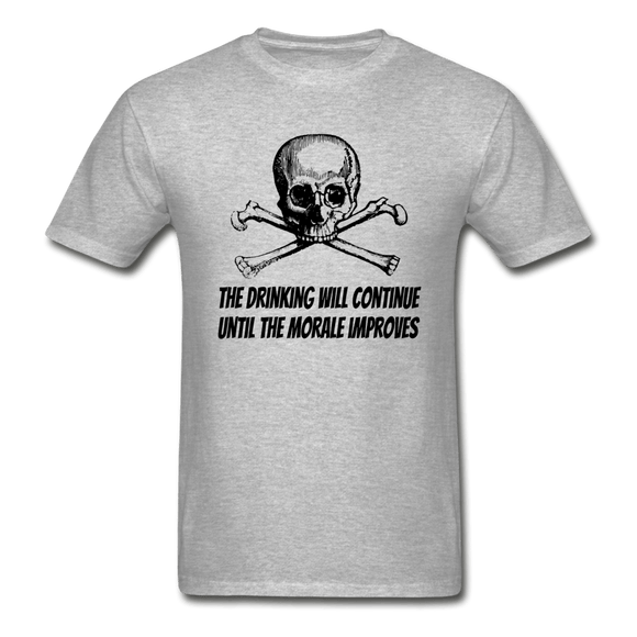 The Drinking will Continue Gildan Ultra Cotton  Heavyweight T-Shirt - Captain Woody's Locker