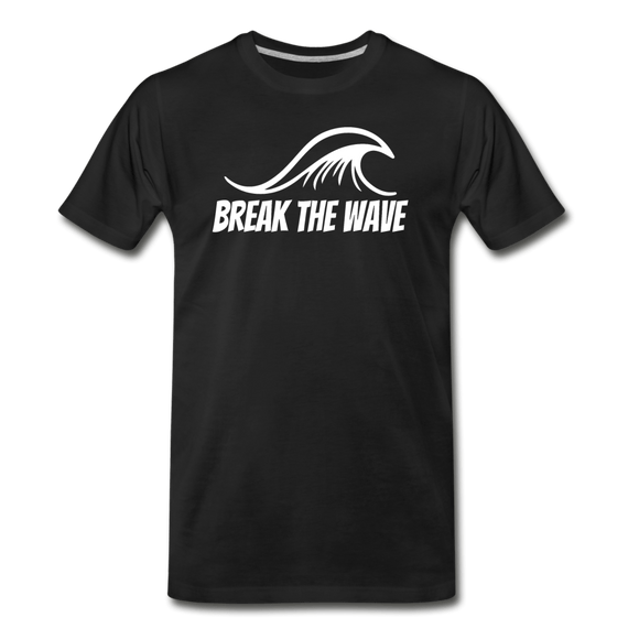 Break the Wave Men's Premium Organic Surf T-Shirt - Captain Woody's Locker