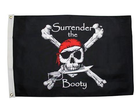 Surrender the Booty 2x3 Ft - Captain Woody's Beach Club