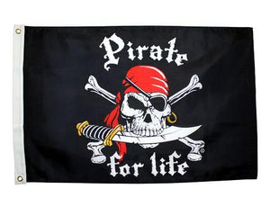 Pirate for Life 2x3 Ft - Captain Woody's Locker