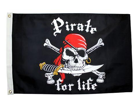 Pirate for Life 2x3 Ft - Captain Woody's Beach Club