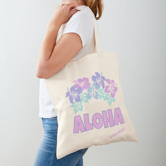 ALOHA Hawaiian Flowers Tote Bag - Captain Woody's Locker