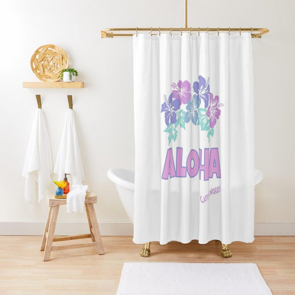 Aloha Hawaiian Flowers Shower Curtain - Captain Woody's Locker