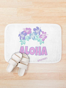 Aloha Hawaiian Flower Bath Mat - Captain Woody's Locker